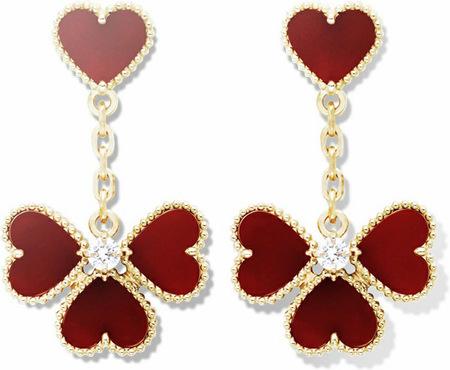 """Especial San Valentín, los pendientes """"Sweet Alhambra"""" de Van Cleef & Arpels"""