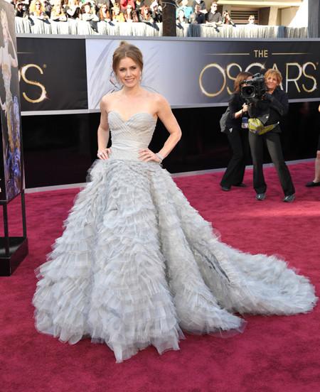Amy Adams De Oscar De La Renta 2013