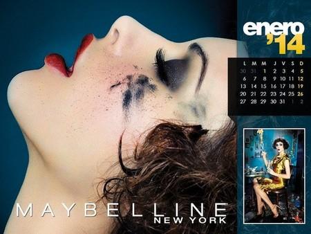 Bienvenidas al alucinante mundo de Maybelline en su nuevo calendario 2014
