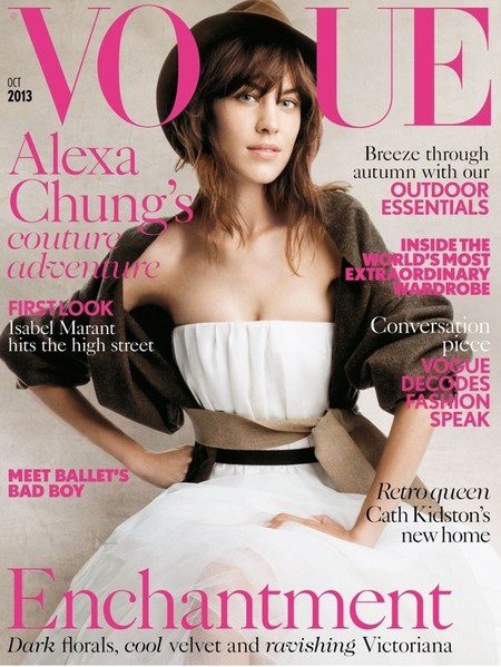 UK Vogue October 2013 Alexa Chung by Patrick Demarchelier