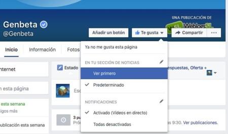 Facebook primero