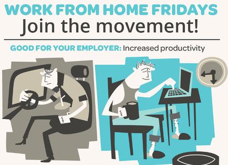 Trabajar desde casa los viernes: ¡Únete al movimiento! [Infografía]