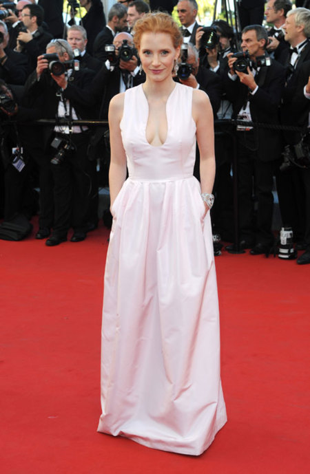 Jessica Chastain en Cannes 2012