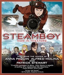 Retro-tecnología de vapor del XIX en Steamboy