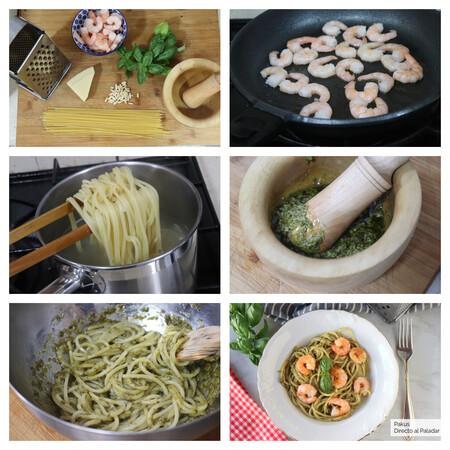 Espaguetis Pesto Gambas Pasos Futurobloguero Pakus Dap