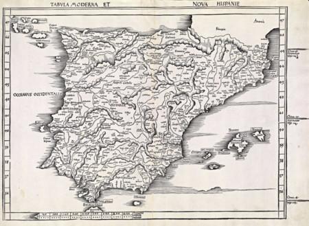 Tabula Moderna Et Nova Hispanie 1513
