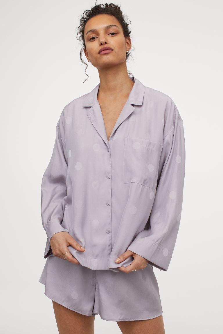 Pijama malva de satén