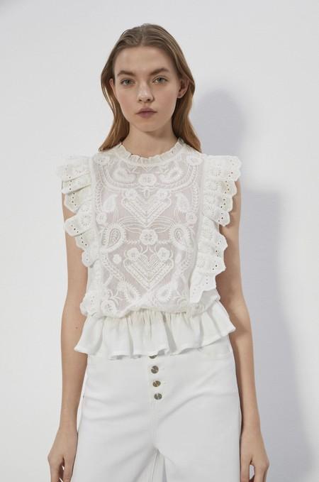 Tops Blusas Blancas Verano 2020 Sfera 15