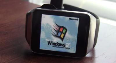 La imagen de la semana: Windows 95 corriendo en un Android Wear