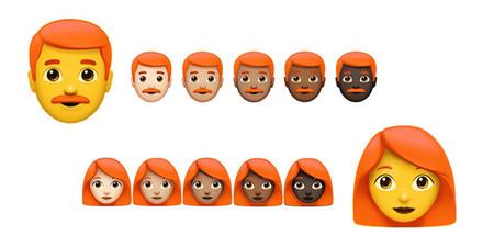 Unicode se va a reunir con Apple para decidir cómo añadir emojis de personas pelirrojas