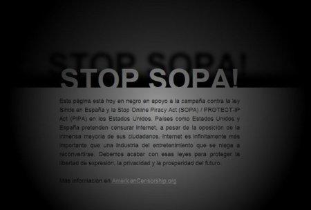 Cierre de web en protesta contra la SOPA