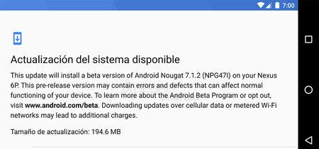 Android 7.1.2 Beta 2: Nexus 6P con gesto en el sensor de huellas y Pixel C con Pixel Launcher