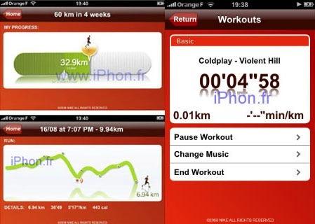 Nike+ para el iPhone, imágenes filtradas