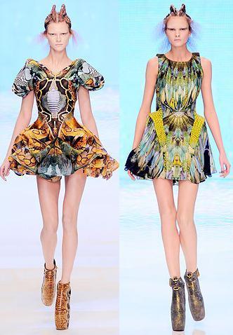 Alexander McQueen Primavera-Verano 2010 en la Semana de la Moda de París