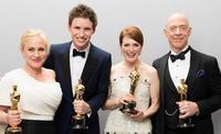 ¿Dónde veremos a Eddie Redmayne, Julianne Moore, Patricia Arquette y J.K. Simmons tras ganar el Oscar?