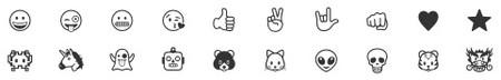Emojis Grabado 2