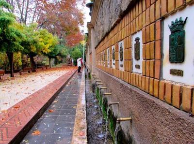 La fuente de los 50 caños en Segorbe, Castellón