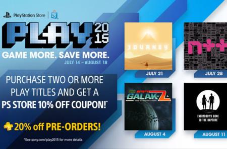 Anuncian la promoción PLAY 2015 para la PlayStation Store