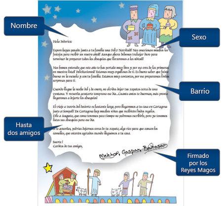 Carta de respuesta de los Reyes Magos