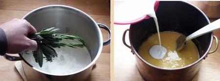 Receta de helado de hierbas aromáticas, pasos