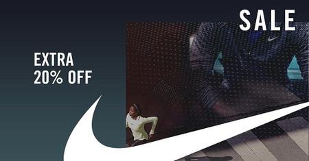 En las rebajas de Nike tenemos un 20% extra por tiempo limitado con este código