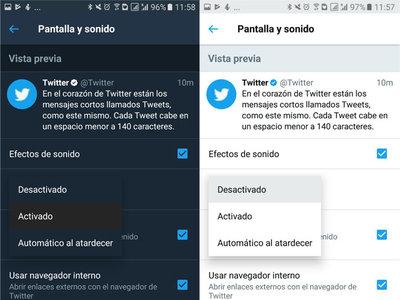 Así puedes activar el modo noche automáticamente en Twitter para Android