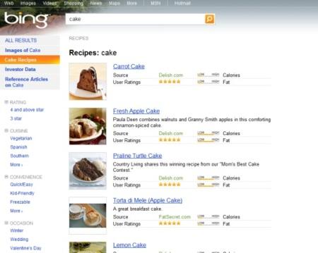 Recetas de cocina en Bing