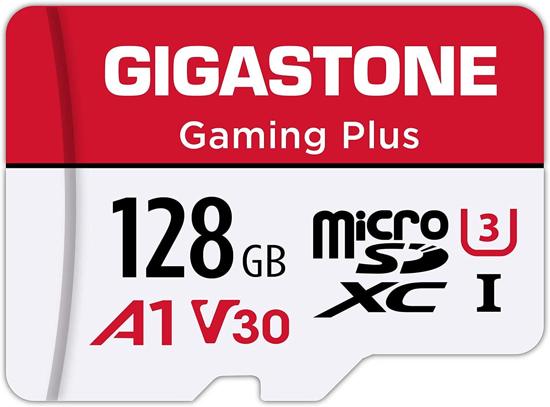 Gigastone - micro SDXC UHS-I A1 Clase 10 128 GB Tarjeta de Memoria Micro SD, alta velocidad 100MB/s, grabación de video 4K,