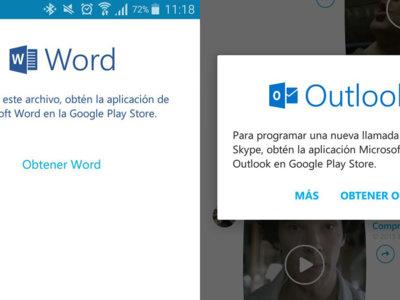 """Continúa el """"bro-mance"""" Skype - Outlook, o cómo Microsoft te mete sus apps por los ojos"""