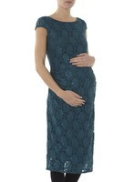 Vestido Premama Encaje Verde Dorothy Perkins Maternity