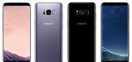 Más imágenes de prensa del Galaxy S8: en color gris plomo y negro