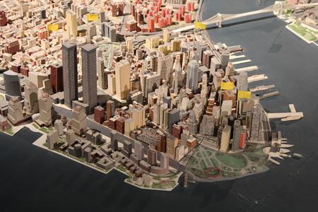 Detalle maqueta Nueva York museo Queens
