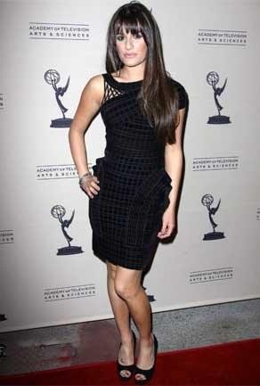 Lea Michelle de gala con Glee
