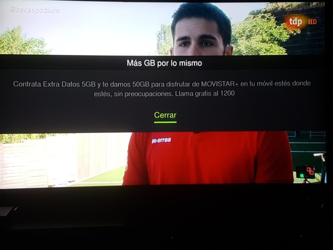Cómo desactivar los mensajes publicitarios en Movistar+  que avisan de otras emisiones y promociones