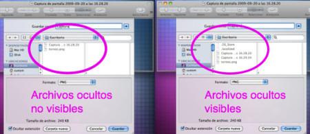 Muestra los archivos ocultos de Snow Leopard rápidamente con Comando + Mayusculas + Tecla punto