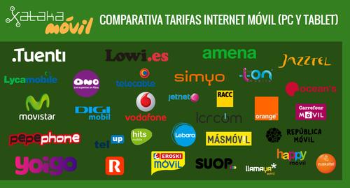 Las mejores tarifas para tener internet móvil en una tablet o PC