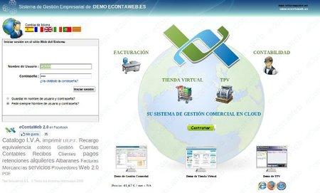 econtaweb, completa solución de facturación, contabilidad y tienda online