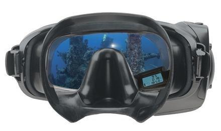 Gafas de buceo con pantalla de información