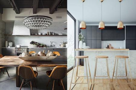 17 ideas de lámparas de cocina que te van a encantar