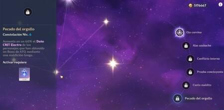 Constelaciones de Sara en Genshin Impact
