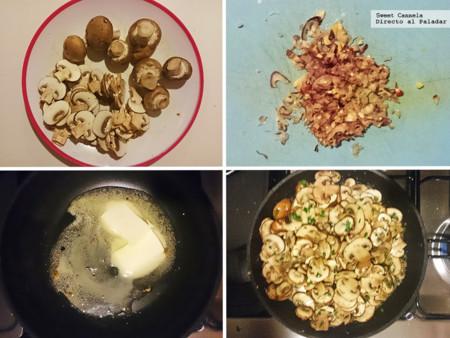 Preparacion HOngos A La Mantequilla