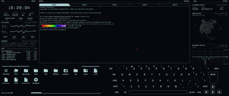 eDEX-UI: una terminal para Windows, Linux y macOS que parece sacada de una película de ciencia ficción sobre hackers