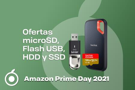 Tarjetas microSD, memorias flash USB, discos duros, SSD: mejores ofertas en almacenamiento por el Prime Day en Amazon