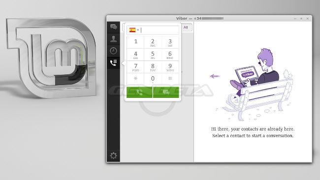 Viber, cliente ejecutándose en Linux Mint