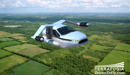 Terrafugia TF-X, un futuro eléctrico volador