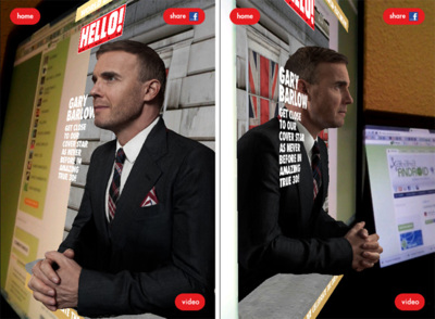 Versión inglesa de la revista Hola saca una portada que puedes ver en 3D desde tu smartphone