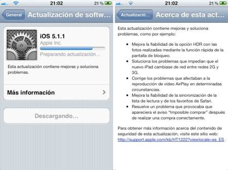 Apple publica iOS 5.1.1