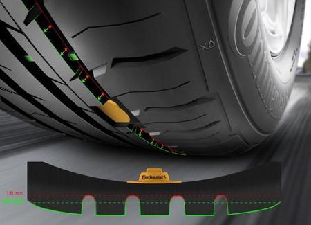 Continental In-Tire, con sensores que leen la profundidad del dibujo del neumático