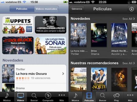 iOS 5 vs. iOS 6, tiendas