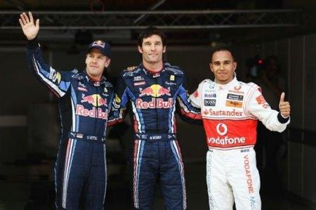 Pole para Mark Webber. Red Bull está en un nivel superior